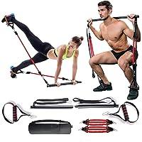 Verstelbare weerstandsband voor dames en heren, kniebuigingen en zitspieren, draagbaar, voor thuis, gymnastiek, yoga…