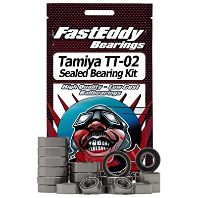 Tamiya TT-02 Chassis Rubber Sealed Bearing Kit: Toys & Games