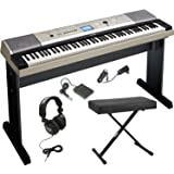 Yamaha YPG-535 88-Key Digital Piano w/ Knox Adjustable X Style bench & Full-Size Studio Headphones