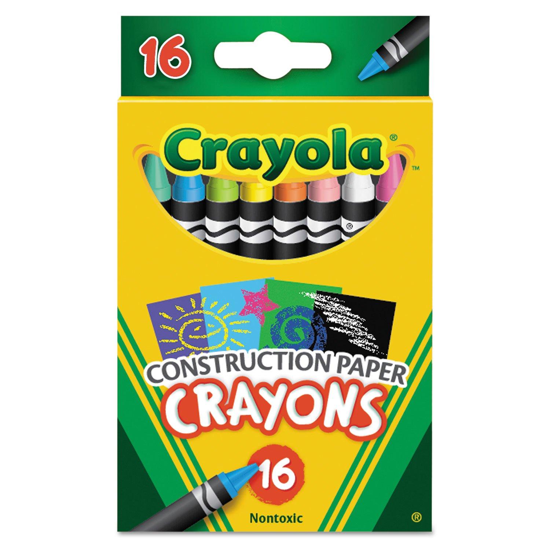Crayola 16 Construction Paper Crayons 52-5817 ST
