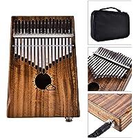 Muslady Kalimba , Thumb Piano , Mbira , 17 Keys EQ Solid Acacia Link Speaker Electric Pickup Muspor with Bag Cable Keyboard Instrument