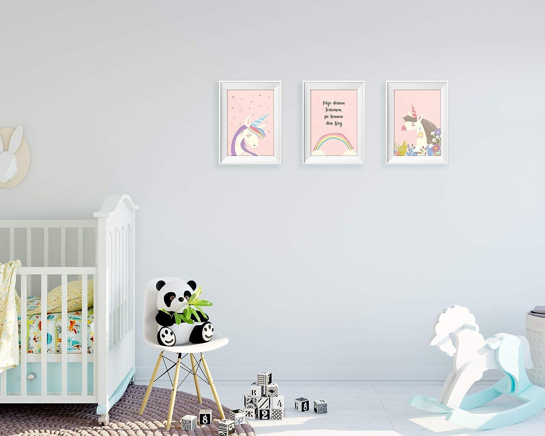 Kinderposter Friendly Fox Kinderzimmer Poster Babyzimmer DIN A4 Lama 3er Set Wandbilder
