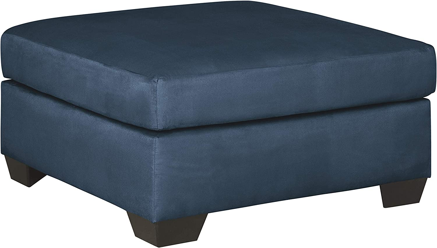Signature Design by Ashley - Darcy Contemporary Oversized Accent Ottoman, Blue