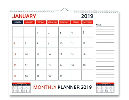 Amazon Com Orange Large Desk Calendar 2019 Daily Perfect