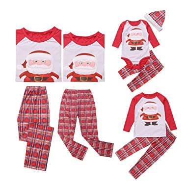 e36210f207 douleway Christmas Family Matching Pyjama, Mommy and me Kids Sleepwear Pj  Baby Romper Set: Amazon.co.uk: Clothing