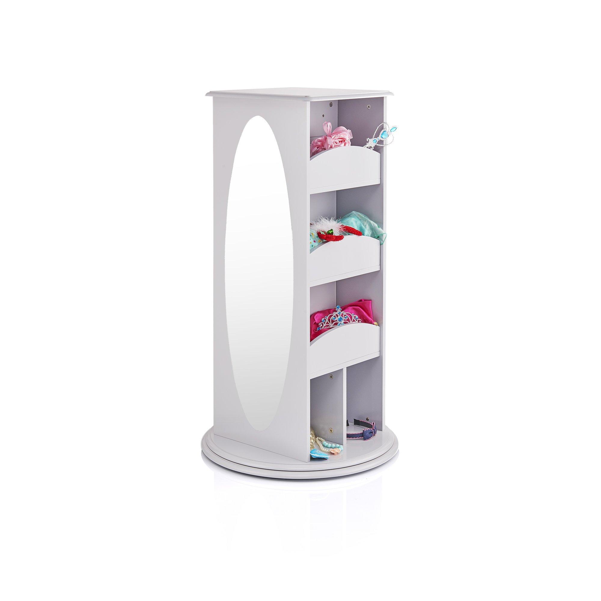 Guidecraft Rotating Dress Up Storage Center Grey - Armoire, Dresser Kids' Furniture by Guidecraft