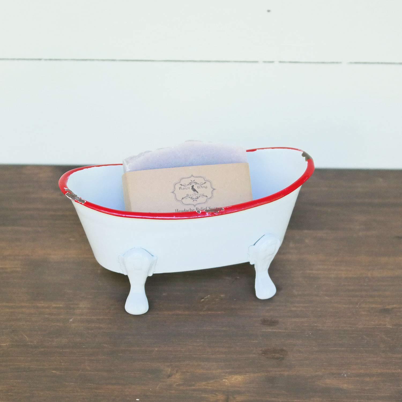 Foreside Home /& Garden Foreside Mini Enamel Bathtub Soap Dish Black