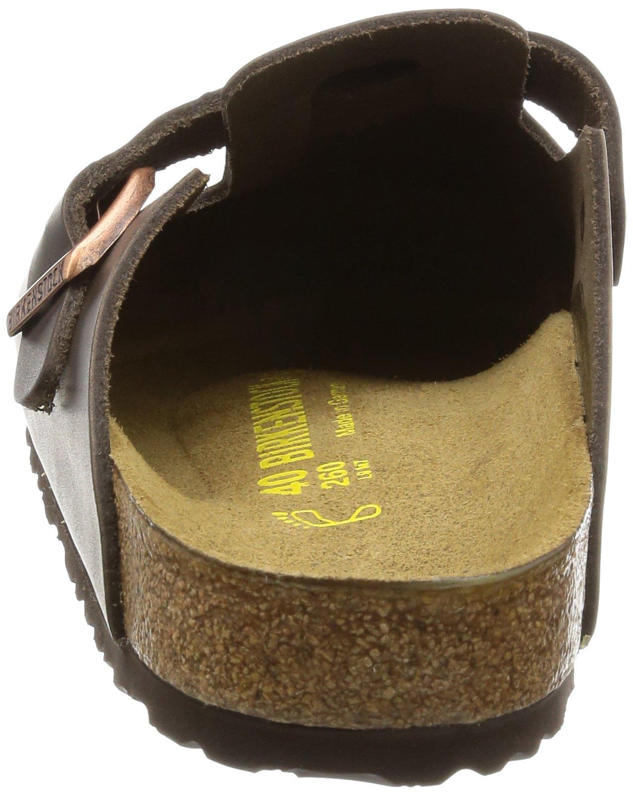 Birkenstock Boston, Unisex Adults' Clogs, Dark Brown Leather,8 UK by Birkenstock (Image #2)