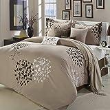 Cheila Beige, Silver, Brown 8 Piece Queen Comforter Bed In A Bag Set