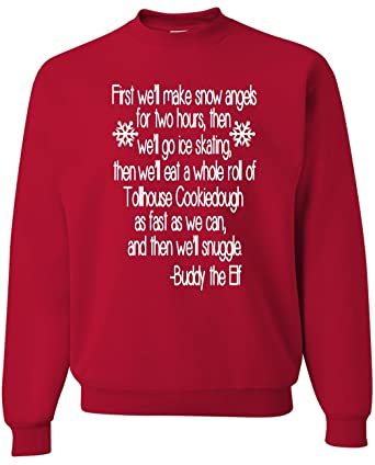 buddy elf sweater ugly christmas sweater snowflake red xs - Buddy The Elf Christmas Sweater