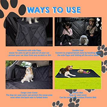 Furry Good Life Dog Hammock Car Seat Cover Heavy Duty