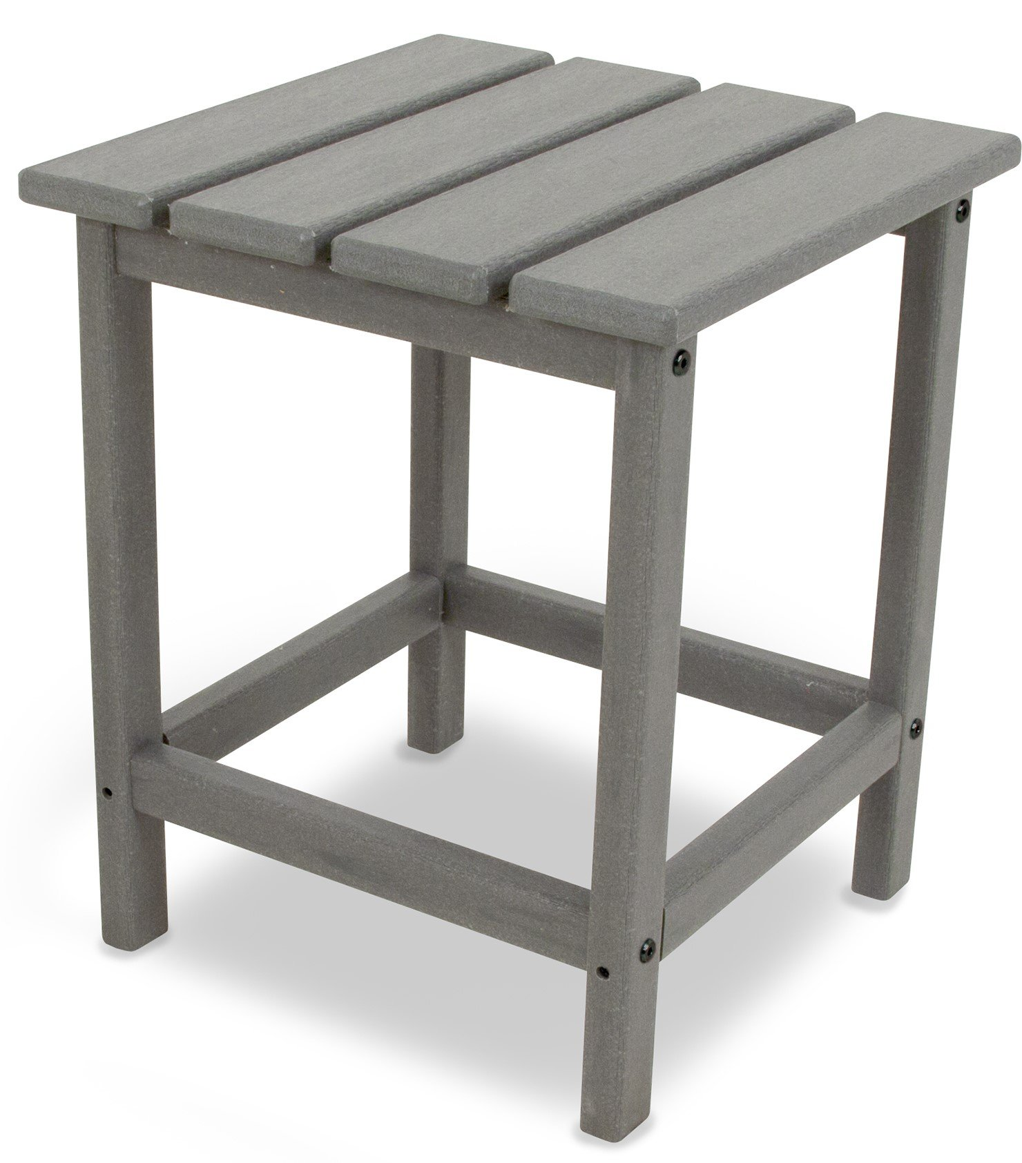 POLYWOOD ECT18GY Long Island Side Table, 18-Inch, Slate Grey