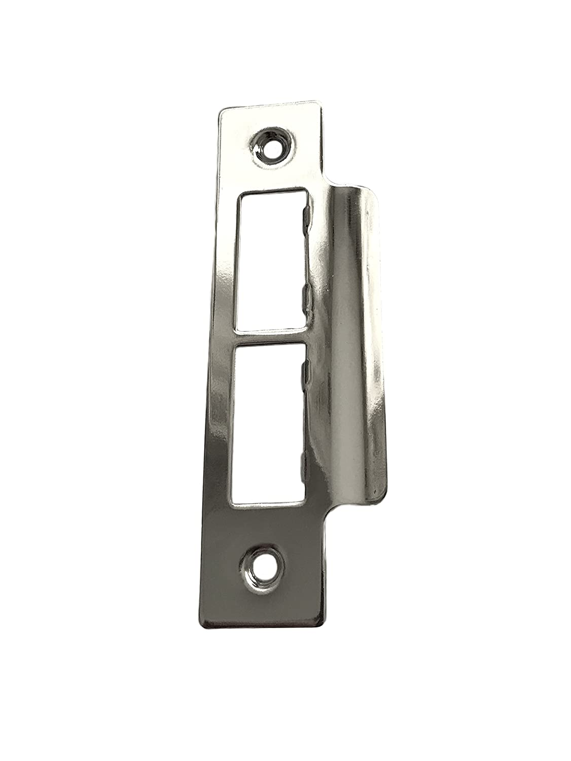 5 x Long Strike Plates for Mortice Locks - Nickel Plated Fasteners-Store