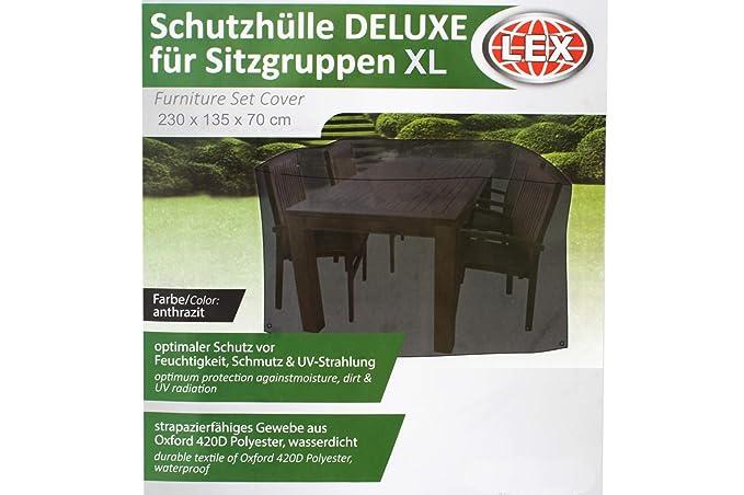 LEX Schutzhülle für Rundgrill 70 Ø x 90 cm Säulengrill Hülle Schutz Abdeckung