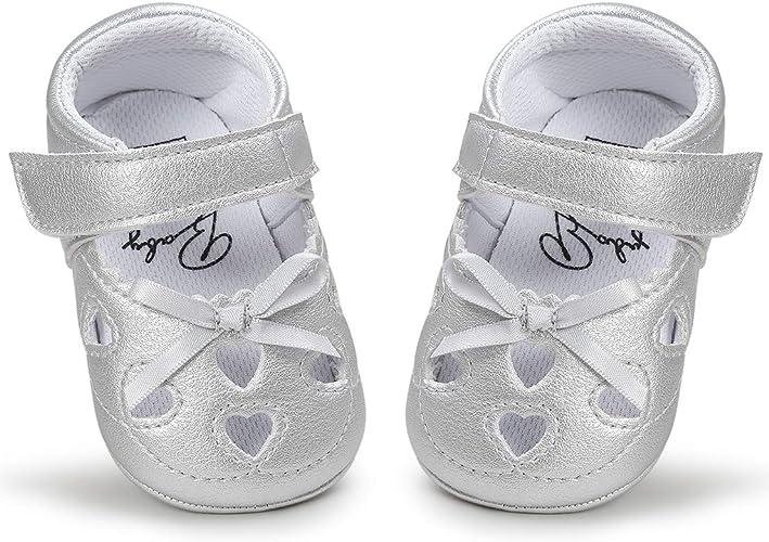 Newborn Baby Girl Prewalkers Crib Shoes Kids Soft Sole Princess Shoes Non-slip