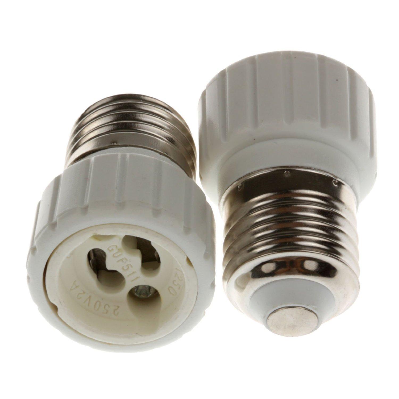 Bonlux 10pcs G9 to E14 Adapter Converters Light Sockets Lamp Holder