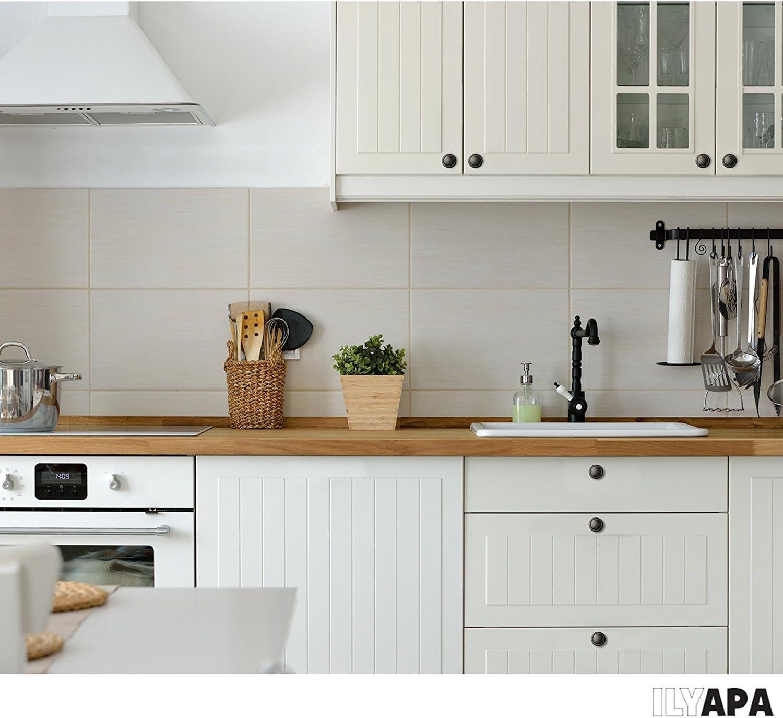 Oil Rubbed Bronze Kitchen Cabinet Knobs 10 Pack of Kitchen Cabinet Hardware 1 1//4 Inch Round Drawer Handles