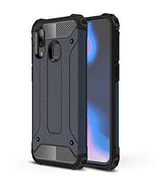 AOBOK Funda Samsung Galaxy A40, Azul Profundo Moda Armadura Híbrida Carcasa Shock Absorción Proteccion, Anti-Scratch, Funda Case para Samsung Galaxy ...
