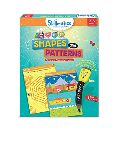 Skillmatics Educational Game: Shapes and Patterns 3-6 Years