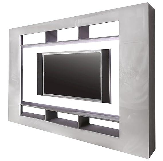 Trendteam Wohnwand TV Möbel, Weiß Hochglanz, 216 X 160 Cm: Amazon.de: Küche  U0026 Haushalt