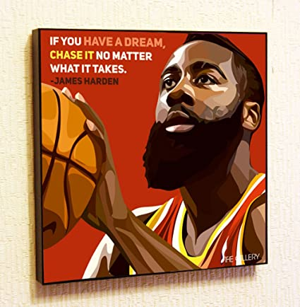 2a5418b045c James Harden NBA Backetball Motivational Quotes Wall Decals Pop Art Gifts  Portrait Framed Famous Paintings on