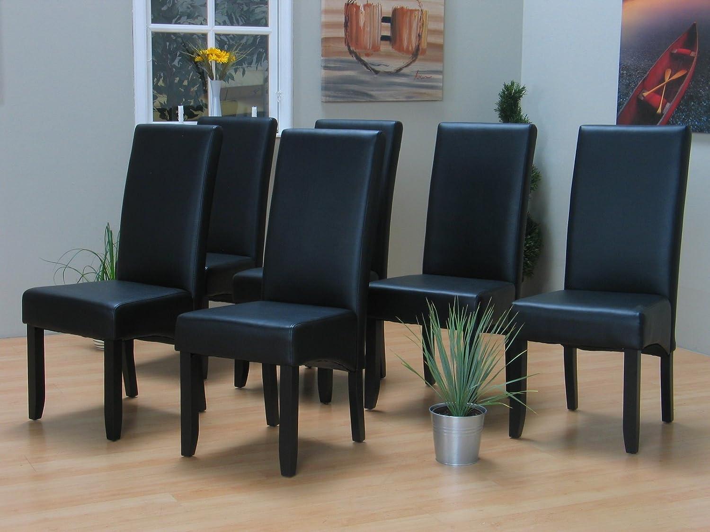 6x Esszimmerstuhl Kunstleder Küchen Esszimmer Stuhl Stühle ...