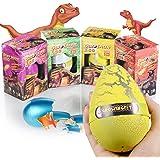 Xosoy 4.72''3.15'' Super Huge Lifelike Dinosaur Egg Novelty Magic Hatching Growing Dinosaur Toys   Dinosaur Eggs With Big Dinosaur Toy Figures Inside Hatching Toy For Kid   Funny Kids Toys