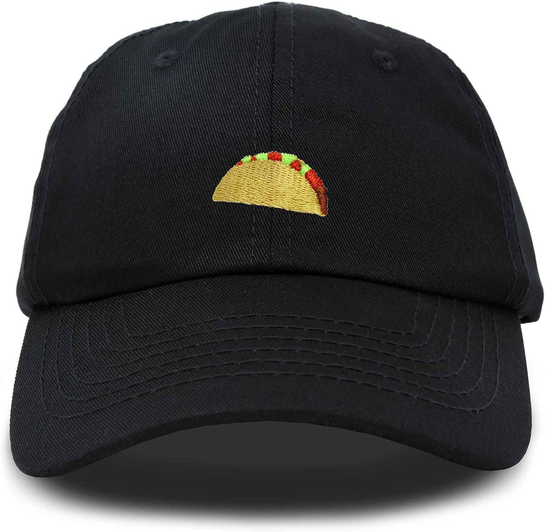 DALIX Taco Dad Hat Baseball Cap for Men Womens Emoji Caps Black Pink White Green