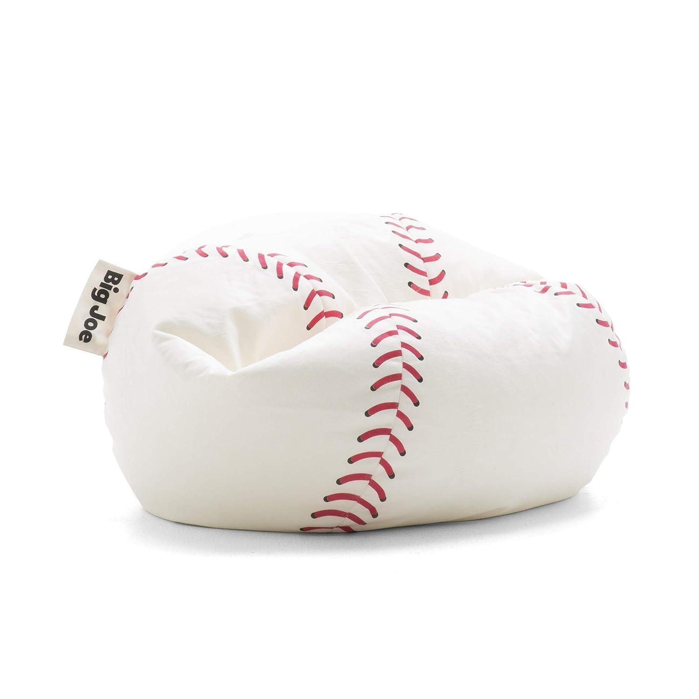 Peachy Big Joe Sportsball Baseball Plush White Cjindustries Chair Design For Home Cjindustriesco