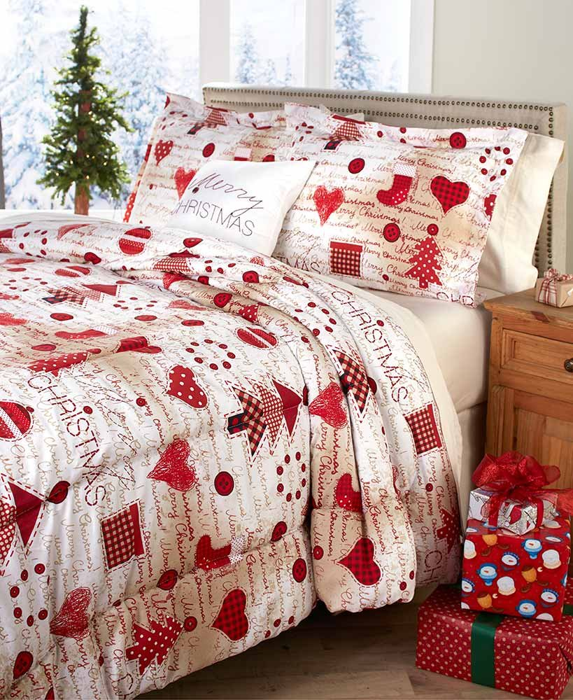 Christmas Comforter.The Lakeside Collection Christmas King Sized Comforter Set Four Piece With Holiday Pillow Shams