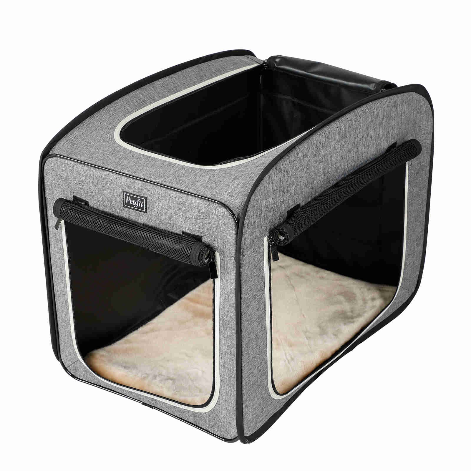 Petsfit Portable Pop Open Cat Kennel,Cat Cage,Dog Kennel,Cat Play Cube,Lightweight Pet Kennel 31'' Lx20 Wx25 H by Petsfit