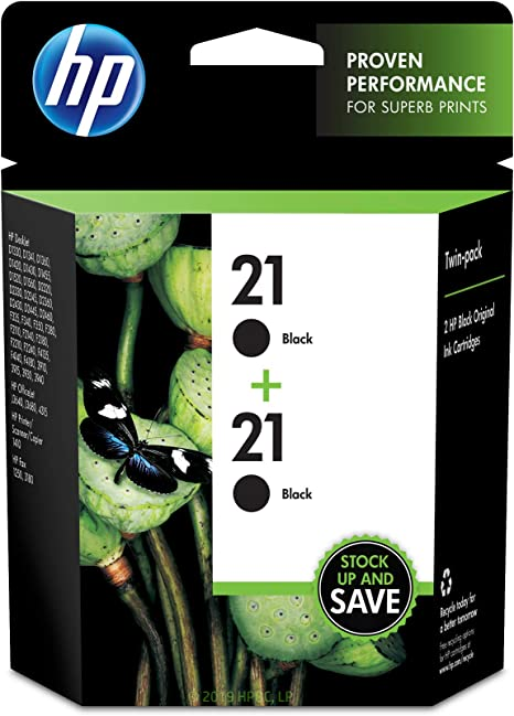Amazon.com: HP 21 cartuchos de tinta negra originales, 9508 ...