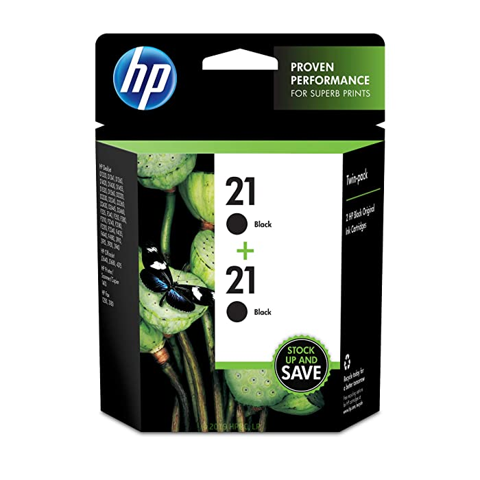 HP 21 | 2 Ink Cartridges | Black | C9351AN
