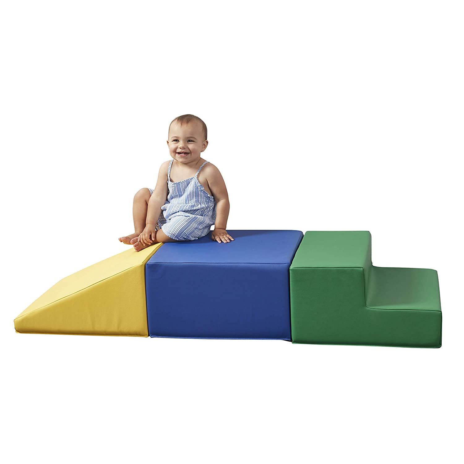 Climbing Sliding FDP SoftScape Playtime Step and Slide Climber for Infants and Toddlers Crawling Colorful Beginner Soft Foam Structure for Indoor Active Play