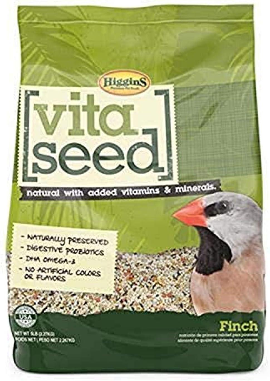 Higgins 466160 Nederland'S Vita Seed Bird Food-Finch 5 Lb (1 Pack), One Size