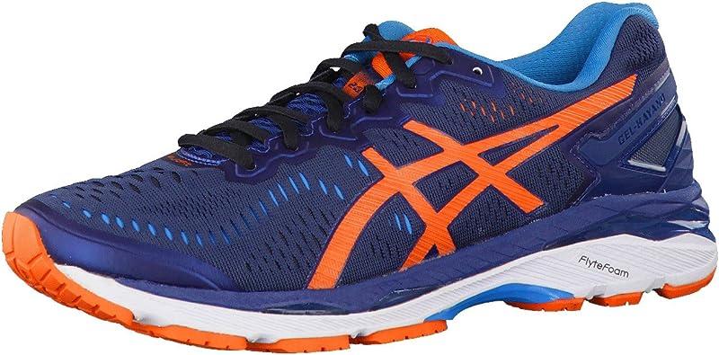 Asics Kayano 23, Zapatillas de Entrenamiento para Hombre, Azul (Poseidon/Flame Orange/Blue Jewel), 39.5 EU: Amazon.es: Zapatos y complementos