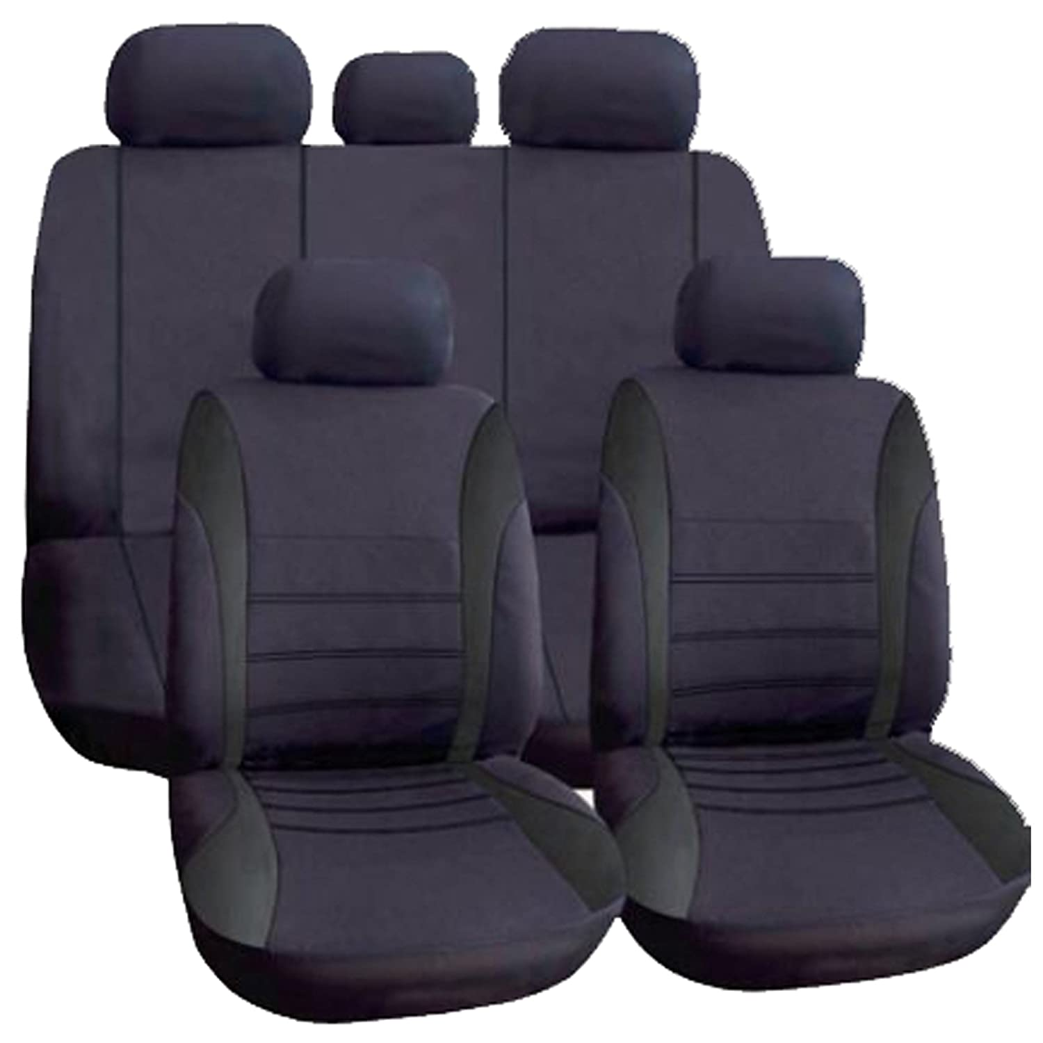 black//silver Car seat covers fit Opel Corsa full set