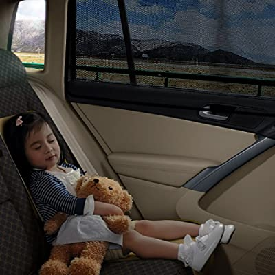 aokway Car Window Shades for Baby, Car Sun Shade Side Window Shade Mesh Magnetic Protect Your Kids and Pets in The Back seat from Sun Glare and Heat: Automotive