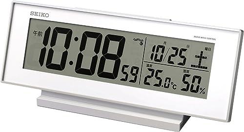 Seiko CLOCK clock visible Night radio digital alarm clock white SQ762W