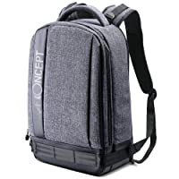 "K&F Concept Lightweight DSLR Camera Backpack Water Resistant Nylon Multipurpose Bag for Canon Nikon Fuji and Other Cameras Laptop Ipad - Light Grey(17.32 * 6.30 * 11.42"")"