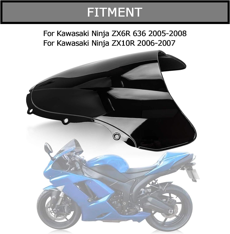 Clair Sport Pare-Brise Pare-brise pour Kawasaki Ninja 06-07 ZX10R 05-08 ZX6R 636