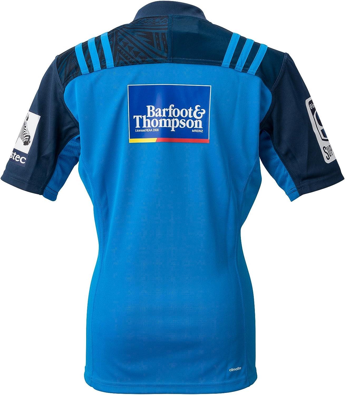 adidas Auckland Blues doméstica/Camiseta de Rugby réplica: Amazon.es: Ropa y accesorios