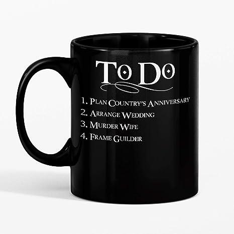 Amazon.com: SAYOMEN – Taza de café con letras blancas, taza ...