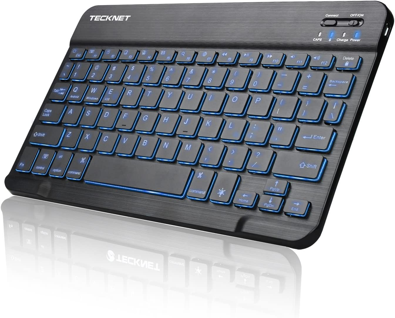 Waterproof Color : Black LYX K-07 ABS Wireless Chargeable Bluetooth Touch Keyboard Black