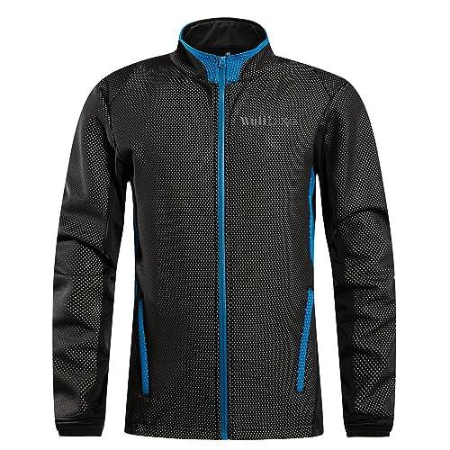 logas Men's Fleece Warm Thermal Winter Cycling Jackets Windproof Road Bike Outdoor Clothing