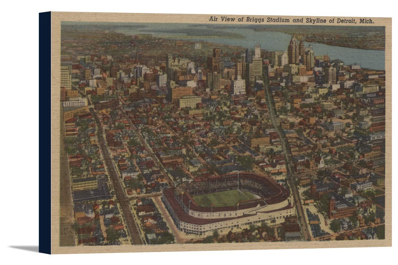 デトロイト、Mi – Aerial Briggs野球スタジアム 36 x 22 1/2 Gallery Canvas LANT-3P-SC-6575-24x36 36 x 22 1/2 Gallery Canvas  B018C2DMZW