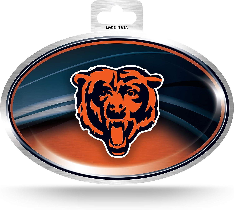 Chicago Bears NFL Rico Industries Metallic Team Logo Sticker