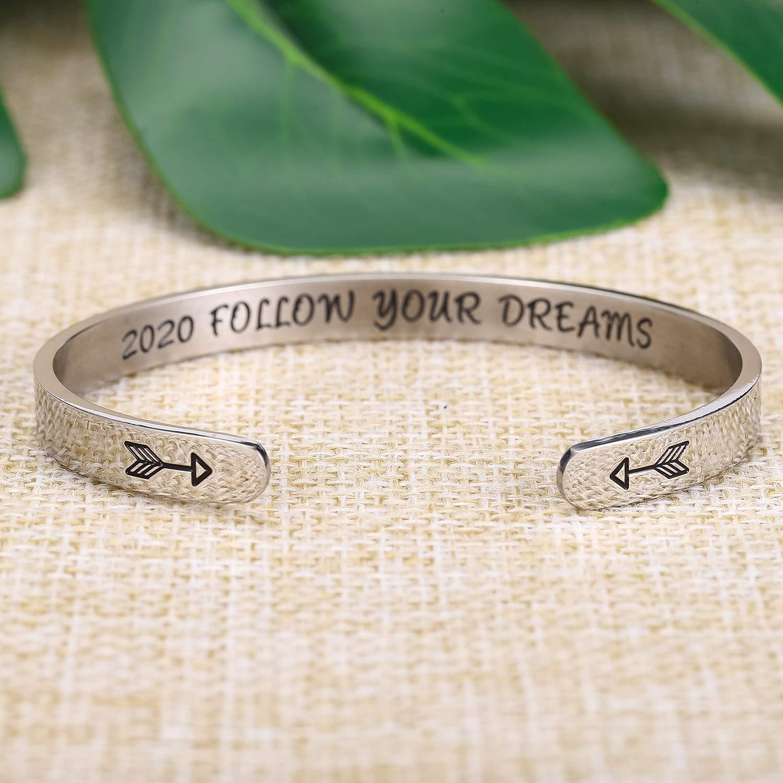 Inspirational Bracelets For Women Girls Personalized Cuff Bangle Friendship Bracelet Friendship Jewelry Birthday Gifts