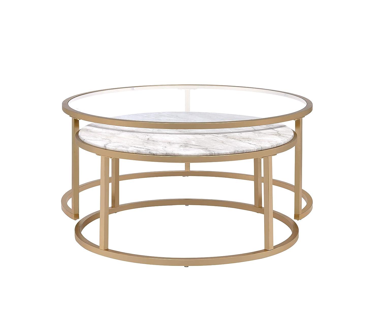 Amazon.com: Acme Shanish 81110 - Mesas de mesa (2 piezas ...