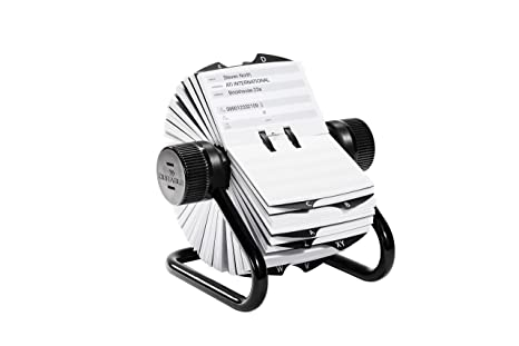 Schedario Ufficio Nero : Durable 248201 telindex rotary file schedario rotativo da